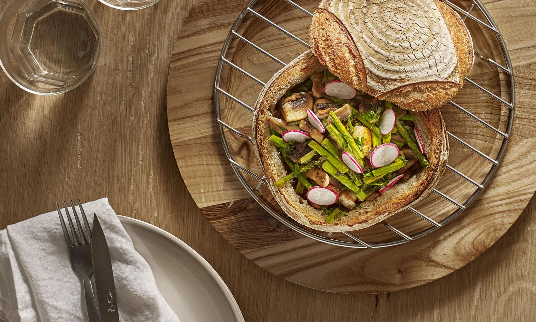 Recette de pain vegan à la plancha